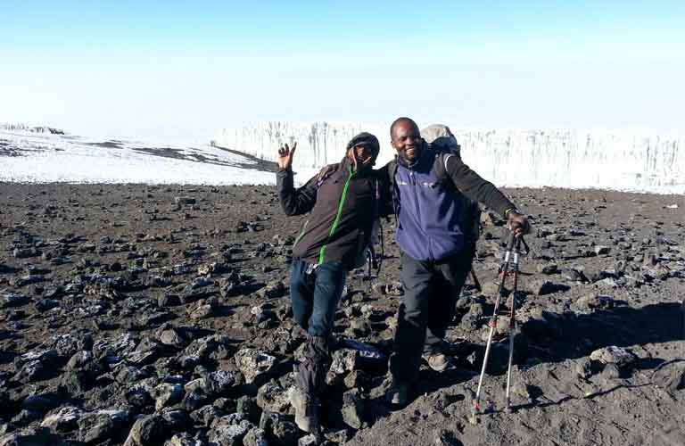 Rebmann Gletscher Kilimandscharo