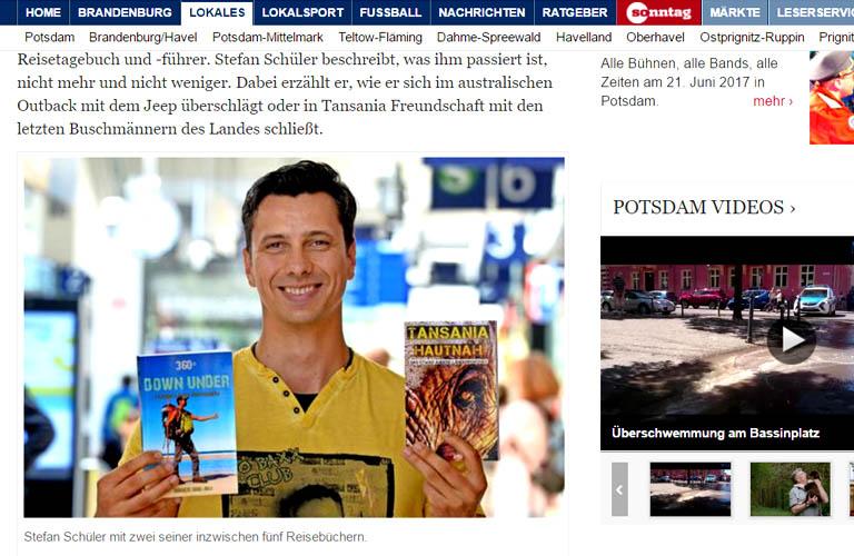 Stefan Schüler Autor Presseberichte Presse Tansania Australien Bücher