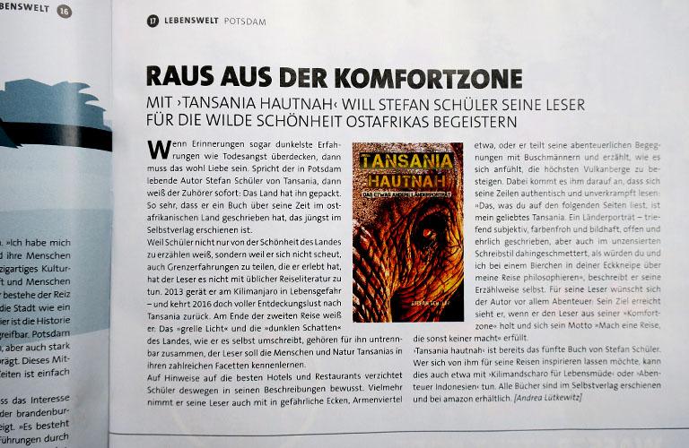 Tansania Hautnah Stefan Schüler Presseberichte burning feet