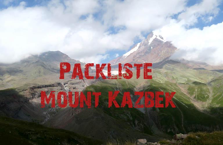 Kasbek Mount Kazbek Packliste Download Georgien