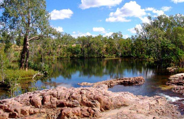 Sandy Camp Pool Jatbula Trail Australien Trekking Outback