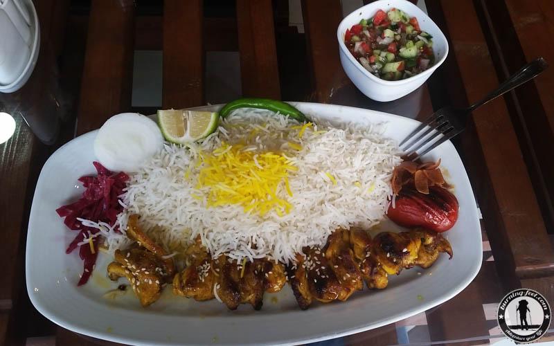 iranisches Essen Kebab Queshm Island Iran Geopark Qeschm Sehenswürdigkeit