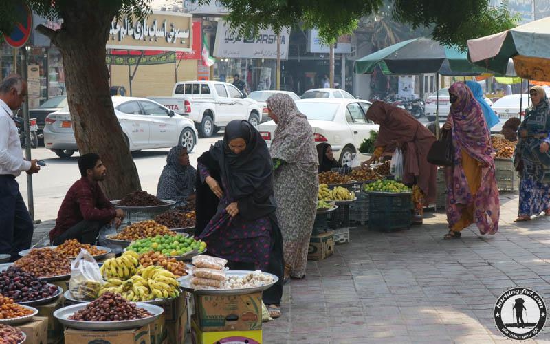 local food Queshm Island Iran Geopark Qeschm Straßenmarkt Sehenswürdigkeit