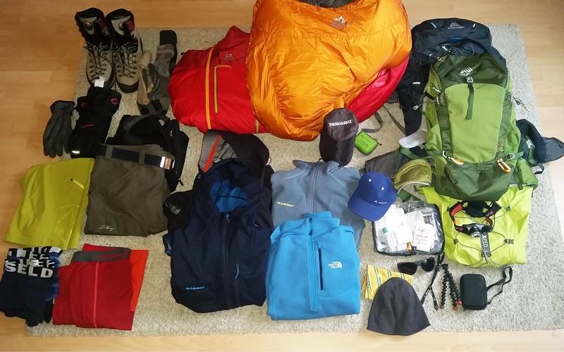 Packliste Island Peak Nepal Everest Base Camp Trek Ausrüstung