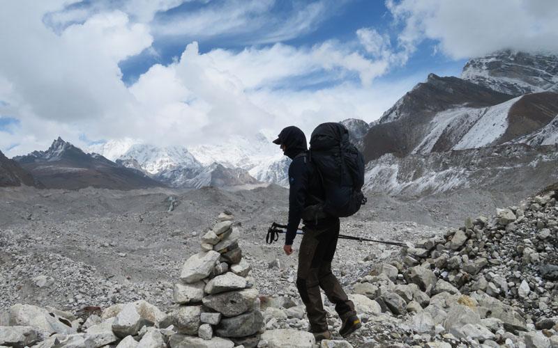 Test Rucksack Gregory Baltoro 85 Modell 2018 Nepal Gokyo Gletscher Himalayas