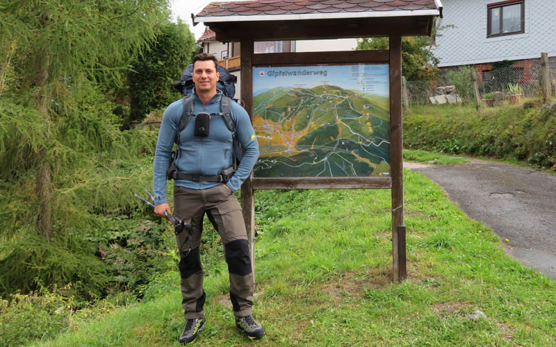 Thüringen Wanderwege Gipfelwanderweg Suhl