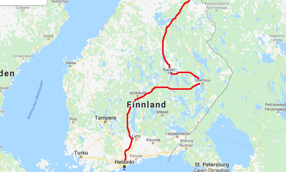 Motorradtour Finnland