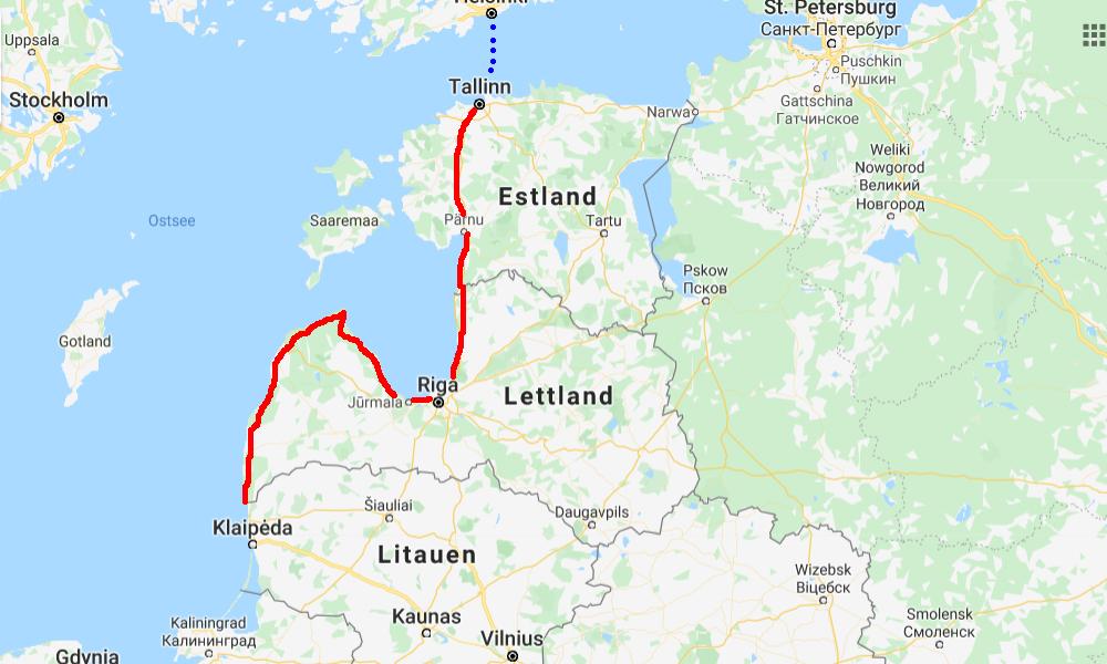 Baltikum Motorradtour