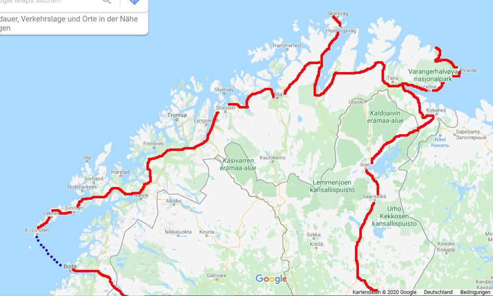 Nordkap Motorradtour