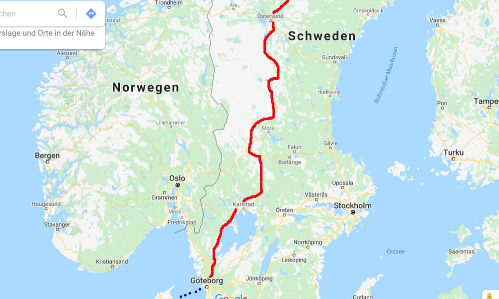Nordkap Motorradtour Schweden