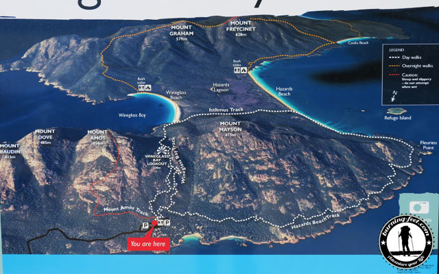 Freycinet Nationalpark Karte